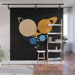 Solar System Heart (to scale) Wall Mural