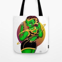 Alien B-Girl Selfie Tote Bag