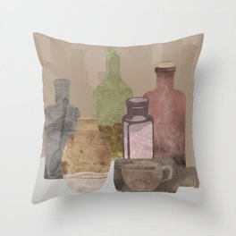 Deconstructed Coffee Throw Pillow