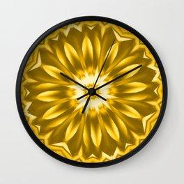 Multicolor Flower RQ Wall Clock