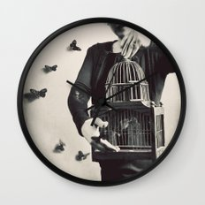 The Butterfly Releaser Wall Clock