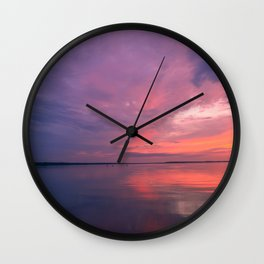 Cloudy sky in the bright twilight light Wall Clock