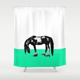 Funny Sad Skater Horse Shower Curtain