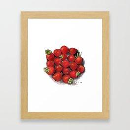 Mini tomatoes Framed Art Print