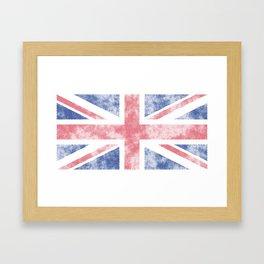 Union Jack Grunge Framed Art Print