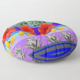 ABSTRACTED BOTANICAL ART PATTERN Floor Pillow