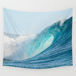 Crashing barrel wave in the Pacific Ocean Wall Tapestry