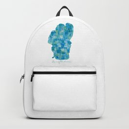 Living the Dream Lake Tahoe Watercolor Collage Backpack