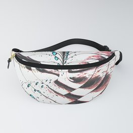 Mirrored Heart Fanny Pack