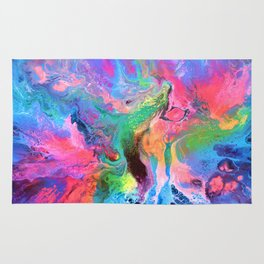 Beautiful Happy Abstract Painting Rug