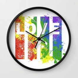 LOVE/COLOR Wall Clock