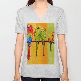 Snuggly Birds Unisex V-Neck