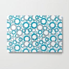 AI Aqua 098-59-30 Coloro 2021 Color Of the Year and Good Gray 122-66-02 Funky Geometric Rings Metal Print
