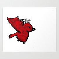 Rubicund Raven Logo Art Print