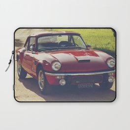 Triumph spitfire, classic english sports car, hasselblad photo Laptop Sleeve