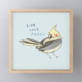 Live, Love, Preen Framed Mini Art Print