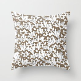Beech Mushrooms Throw Pillow