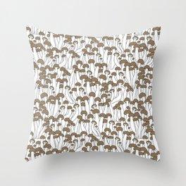 Beech Mushrooms Throw Pillow