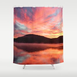 Angels in the Morning: Sunrise Shower Curtain