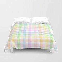 Rainbow Gingham Duvet Cover