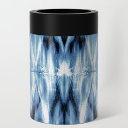 Blue Satin Shibori Argyle Can Cooler