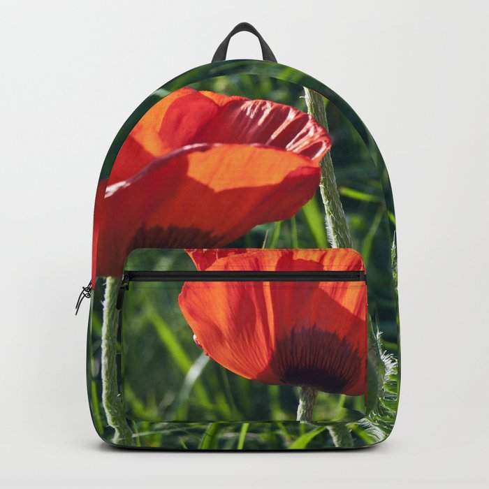 Red Poppies on the summer meadow Backpack