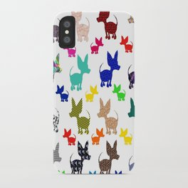 colorful chihuahuas on parade  iPhone Case