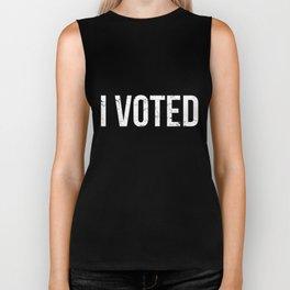I Voted Election Biker Tank