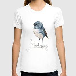 Toutouwai, New Zealand Robin bird T-shirt