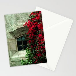 Secret Window Behind the Red Flowers Stationery Cards