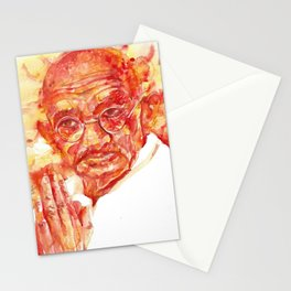 MAHATMA GANDHI - watercolor portrait Stationery Cards