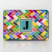 monogram iPad Cases featuring J Monogram by mailboxdisco