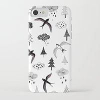 swallow iPhone & iPod Cases featuring swallow by Hui_Yuan-Chang