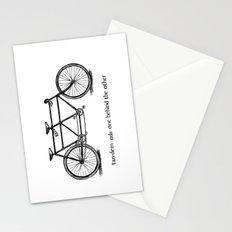 in tandem Stationery Cards