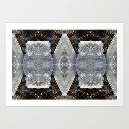 Diamond Ice Jewels Nature Image by Deba Cortese Art Print