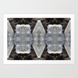 Diamond Ice Jewels Nature Image by Deba Cortese Art Print