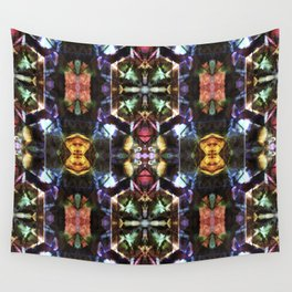 Stained glass pattern Wall Tapestry