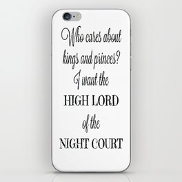 The High Lord iPhone Skin