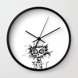 Angst Cat Wall Clock