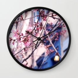 Cherry Blossoms In Philadelphia Wall Clock
