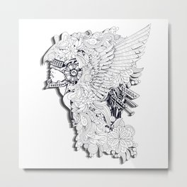 Sikelgaita Lombard Princess in Armor; Adult Coloring  Metal Print