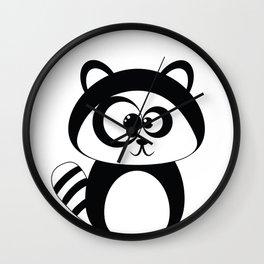 Cute Funny Raccoon Wall Clock