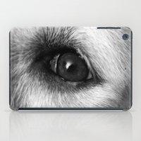 golden retriever iPad Cases featuring Golden retriever eye by Isabelle Savard-Filteau