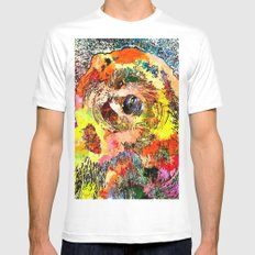 Grizzly Grunge Mens Fitted Tee MEDIUM White