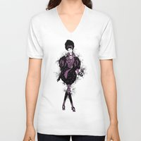 baroque V-neck T-shirts featuring Baroque by ESZAdesign™