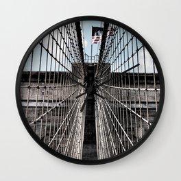 Iron Strung - Brooklyn Bridge Wall Clock