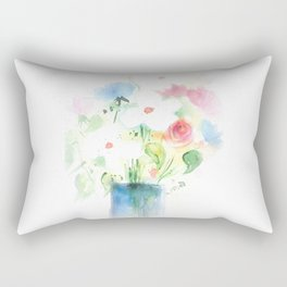 Watecolor Bouquet Rectangular Pillow