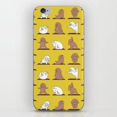 Poodle Yoga iPhone & iPod Skin