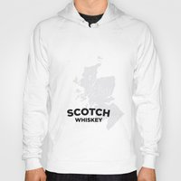 whiskey Hoodies featuring Scotch Whiskey by Stephen John Bryde