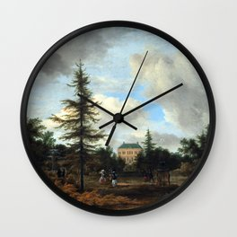 Jacob van Ruisdael Country House in a Park Wall Clock